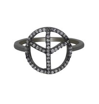 White Topaz Y Designer 925 Sterling Silver Black Rhodium Ring SZ 6.5 SHR... - €11,64 EUR