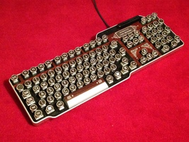 Fine Handcrafted Bioshock Wood Effect USB Steampunk Keyboard - $111.00