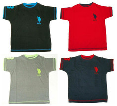 Boy's 4-7 U.S. Polo Assn. Double Crew Tee Shirt Short Sleeve T-Shirt