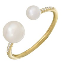 14KT Yellow Gold Pearl Ring L25542 - $450.00