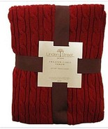 LINDEN STREET SWEATER CABLE 1-SIZE THROW-BLANKE... - $24.99