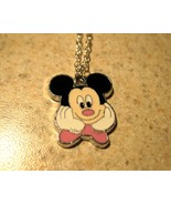 NECKLACE & CHARM CHILDS WHITE GLOVE MICKEY MOUS... - $7.99