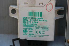 2004 BMW Z4 2.5L M54 DME ECU EWS Trunk Glove Door Ignition W/Immobilizer & Key image 4
