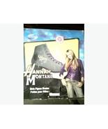 Hannah Montana Girls Ice Figure Skates Size 6 Disney New in Box Denim Look - $25.90