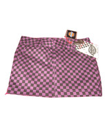 NWT Dickie's Checkered Denim Mini Skirt ~ Super Cute ~ Checked Purple & ... - $20.39