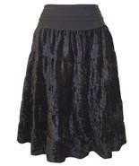 NWT Christy Girl Black Crushed Velvet Skirt ~ Super Cute & Comfy!! ~ Medium - $15.61