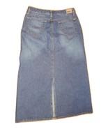 Size Medium Mavi Low Rise 5 Pocket Denim Skirt ~ Rita ~ Back Slit ~ EUC - $15.68