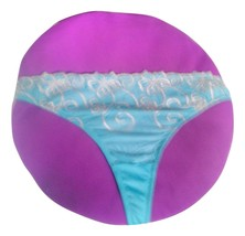 Size L/XL NWT Turquoise with Floral Applique  Tanga Thong - $7.85