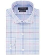 TOMMY HILFIGER Big&Tall Mens Dress Shirt THFlex Stretch Plaid 18.5 34/35... - $19.99