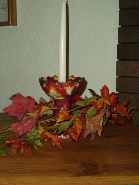 PartyLite Autumn Leaf Taper Holder Retired Party Lite
