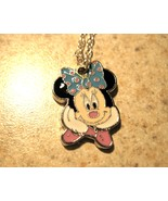 NECKLACE & CHARM CHILDS WHITE GLOVE MINNIE MOUSE PENDANT FOR KIDS #513 - $7.99