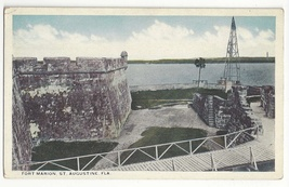 St Augustine FL Fort Marion Barbacan Tower Moat Bridge W J Harris Co Pos... - $4.99