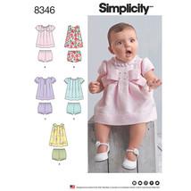 Simplicity Baby Dress Sleeve & Trim Variations & Panties-XXS-XS-S-M-L - $14.96