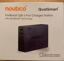 Noubco Qualsmart Pwrboost USB 6 port charger station NEW in box!! - $47.99