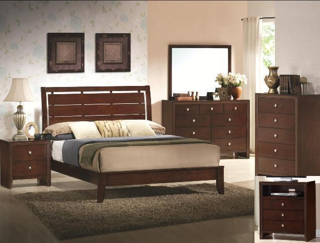 Crown Mark RB4700 Evan King Size Bedroom Set 2 Night Stands Contemporary Style