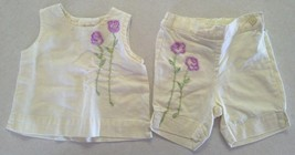 Girl's Size 3-6 M Months 2 Piece The Children's Place Yellow Floral Top & Shorts - $14.00