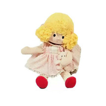 Vintage Cloth Wind Up Doll Musical Lullaby Sweet Baby Soft Plush Stuffed... - $24.63