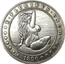 New Hobo Nickel 1890 Sexy Girl Morgan Dollar In Bikini at Beach Casted Coin - $11.39