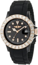 NWOT Invicta Women's IBI-10067-009 Crystal-Accented Black Sport Watch - $118.75