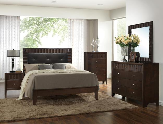 Crown Mark RB4900 Nadine Queen Size Bedroom Set Transitional 2 Night Stands