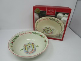 LENOX HOLIDAY INSPIRATIONS & ILLUSTRATIONS FIT YOUR HOME WITH JOY BOWL NIB  - $14.80