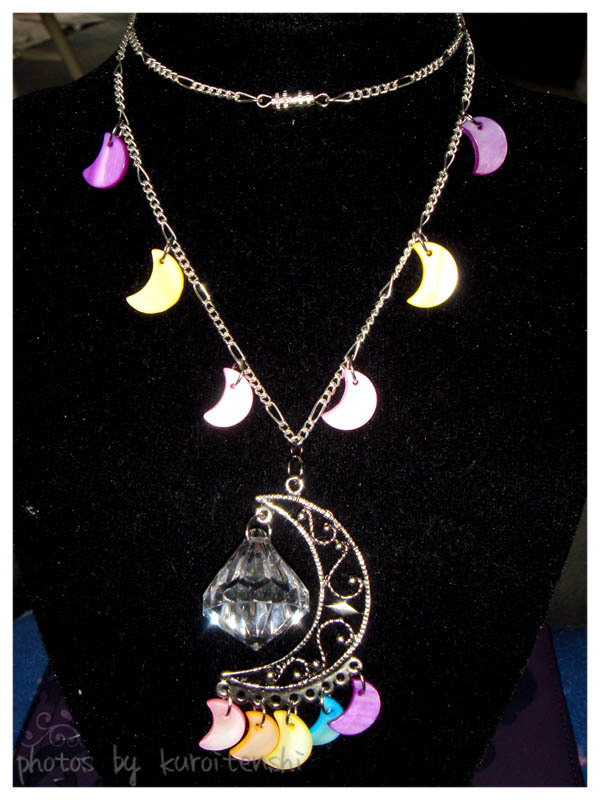 Rainbow Crescent Moon Necklace SM Inspired