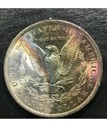 1885-P  Rainbow Toned  Morgan Silver Dollar  Beautiful !     A31 - $173.25