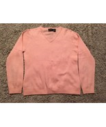 Carlucci Cashmere Collection Women's Peach Cashmere V-neck Sweater, Size... - $36.99