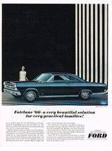 Vintage 1966 Magazine Ad Ford Fairlane A Beautiful Solution For Practical Family - $5.93