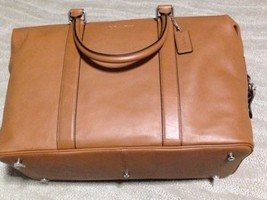 NWT Coach F93471 Duffle Explorer in Leather - Black MSRP $ 695.00 - $375.21