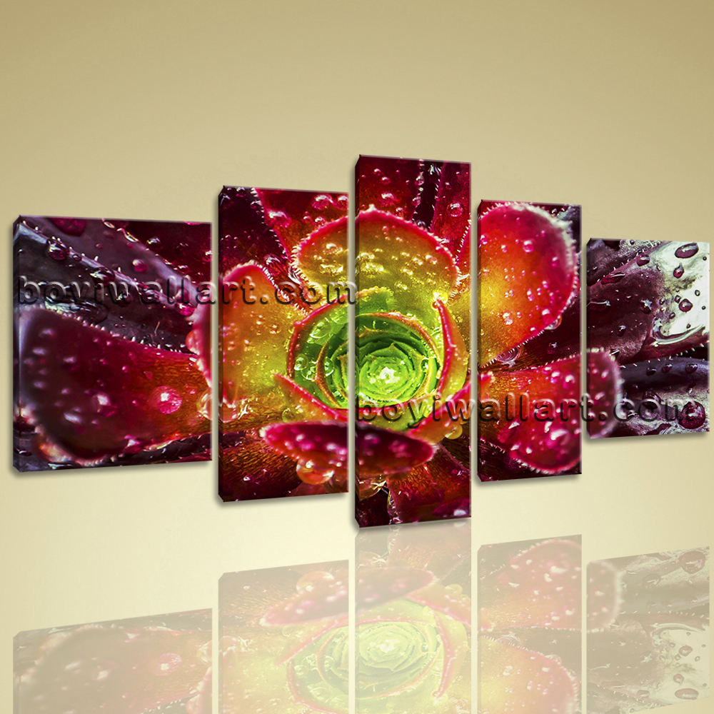 Extra Large Contemporary Abstract Floral Print Wall Art