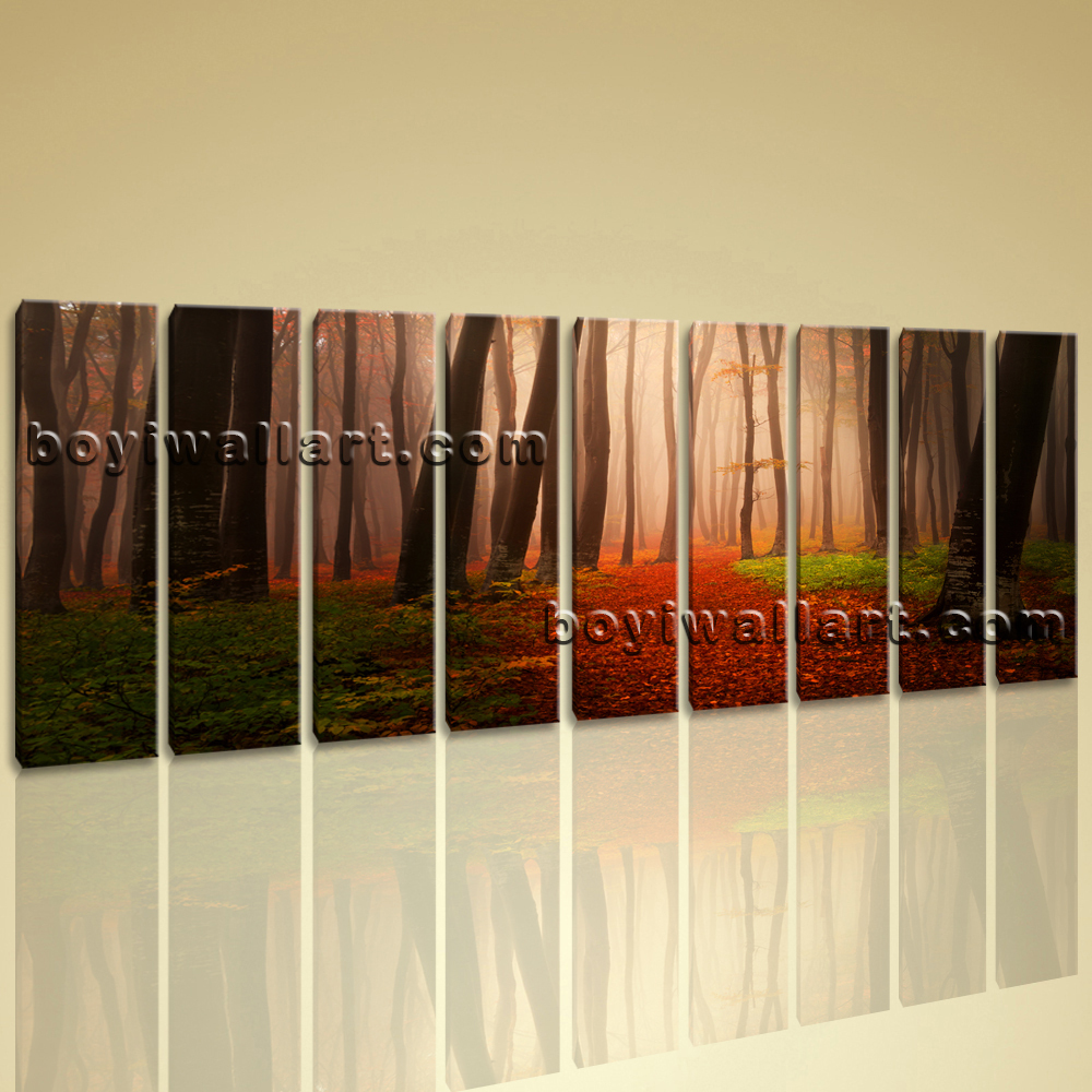 Extra Large Sunset Landscape Painting Giclee Prints Canvas