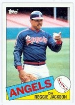 Reggie Jackson baseball card 1985 Topps #200 (California Angels) - $3.00