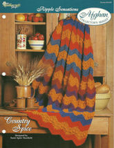 Needlecraft Shop Crochet Pattern 952200 Country Spice Afghan Collectors ... - $4.99