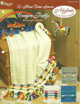Needlecraft Shop Crochet Pattern 932030 Crayon Puffs Afghan Collectors S... - $4.99