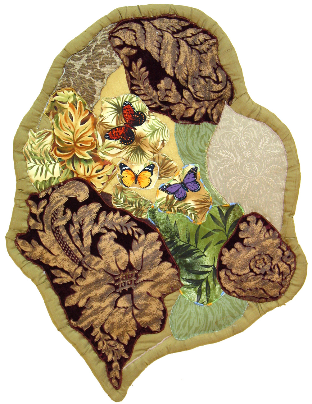 Primary image for Butterflies Ascending: Quilted Art Wall Hanging
