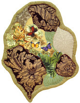 Butterflies Ascending: Quilted Art Wall Hanging - $345.00