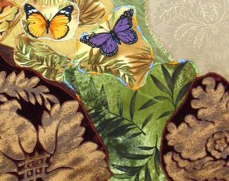 Butterflies Ascending: Quilted Art Wall Hanging