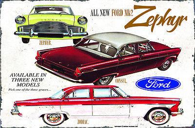 Ford MK2 Zephyr Metal Sign