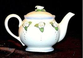 Ceramic TeaPot with Lid White Ceramic Teapot  AB 535-C Vintage image 2