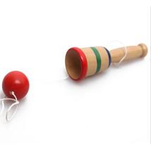 Wood cup ball KENDAMA Vintage Kids Toy Bilboquet Hand eye coordinate - $9.44