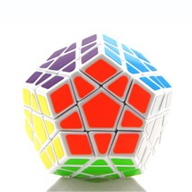 Dodecahedron magic cube 12 surfaces speed White Black twist Polygonal To... - $13.99