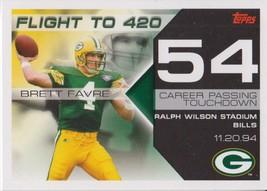 Brett Favre 2007 Topps Flight To 420 Card #BF-54 - $1.50