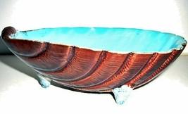 Antique Holdcfoft Majolica Footed Seashell Dish - $375.00