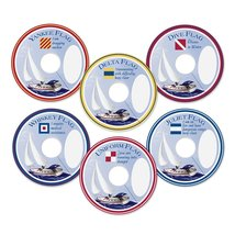 Epic Products Nautical Flags My Glass Tags (Pack of 24), Multicolor - $8.99