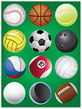 Epic Products Game On! Glass Stick'ems (Set of 24), Multicolor - $7.83