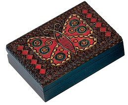 Butterfly Box Polish Handmade Wood Keepsake Kids Girls Jewelry Box - €21,15 EUR