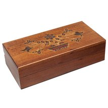 Polish Handmade Jewelry Box Floral Pot w/ Flowers Design Linden Wood Kee... - €30,23 EUR
