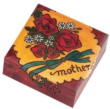 Mother Box Polish Wooden Jewelry Box Handmade Linden Wood Mom Keepsake - €28,43 EUR