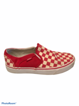 Vans Red And White Checkered Slip On Slides Sneakers Women's 7.5 Fashion... - $28.45